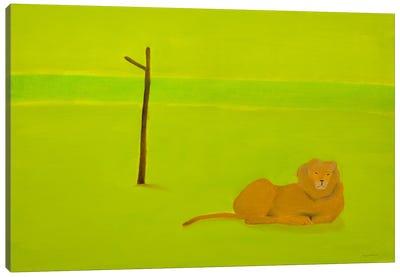 Lion & Tree Canvas Art Print