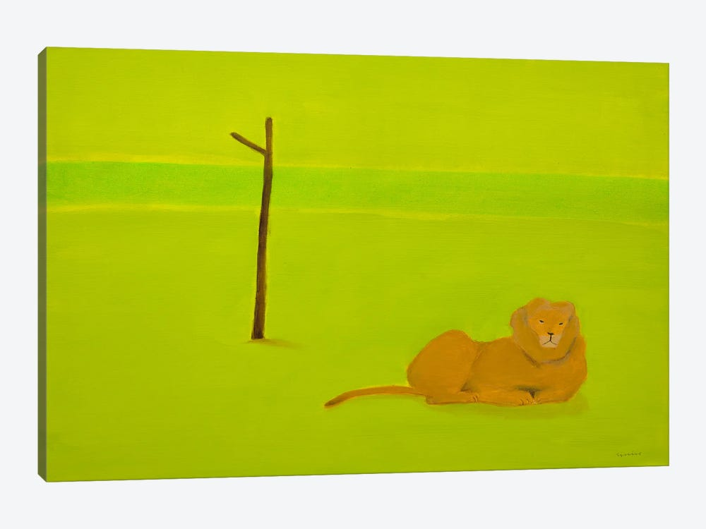 Lion & Tree by Andrew Squire 1-piece Art Print