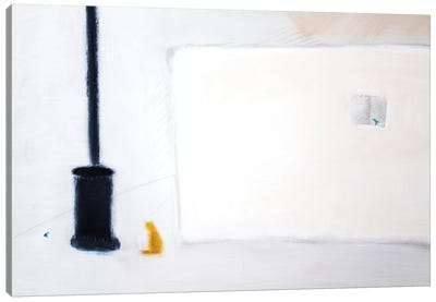 Cat & Stove Canvas Art Print