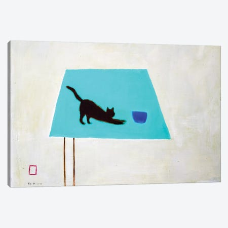 Cat On Table Canvas Print #SQU8} by Andrew Squire Art Print