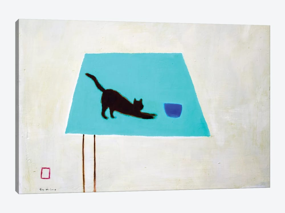 Cat On Table by Andrew Squire 1-piece Canvas Wall Art