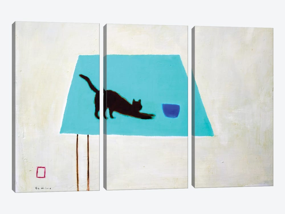 Cat On Table by Andrew Squire 3-piece Canvas Artwork