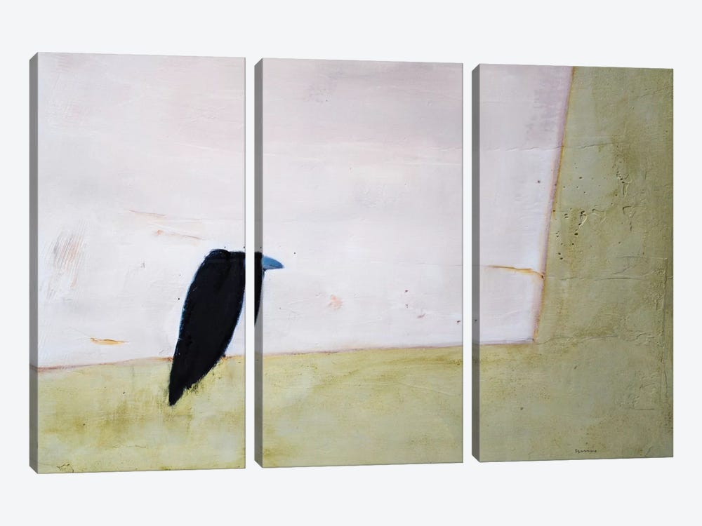 Crow Window by Andrew Squire 3-piece Canvas Art Print
