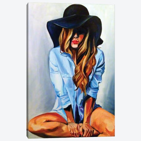 Glammy Hat Canvas Print #SRB118} by Sasha Robinson Art Print