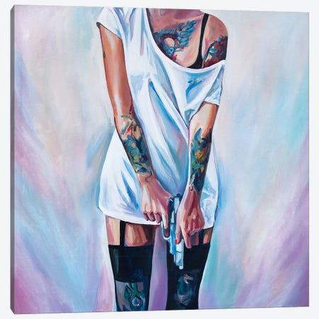Fuck The Love Canvas Print #SRB21} by Sasha Robinson Canvas Art Print