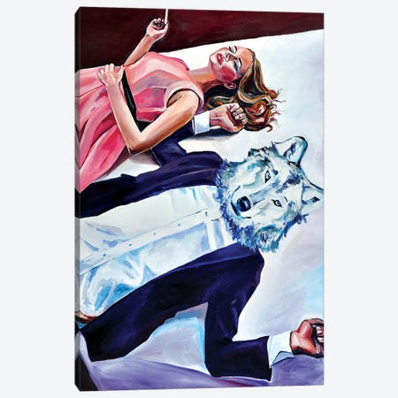 Is It Wolf 3-Piece Canvas #SRB35} by Sasha Robinson Canvas Print