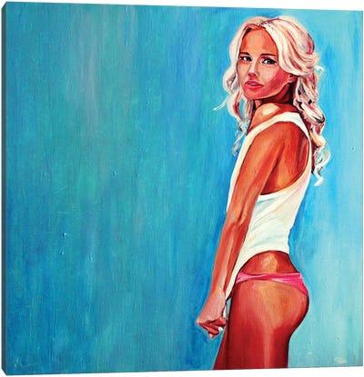 Azure Tenderness Canvas Art Print