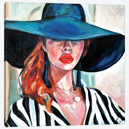 The Hat Canvas Print #SRB65} by Sasha Robinson Canvas Wall Art