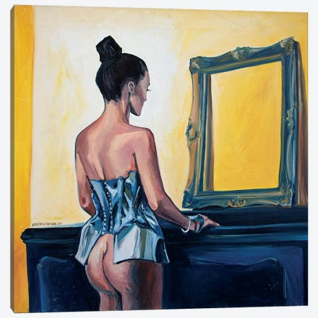 The Mirror Canvas Print #SRB67} by Sasha Robinson Canvas Artwork