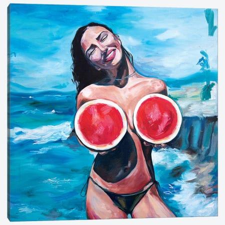 Watermelons Canvas Print #SRB72} by Sasha Robinson Canvas Wall Art