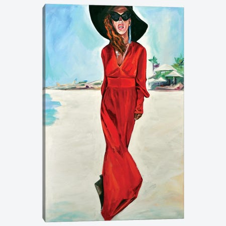Woman In Red Canvas Print #SRB74} by Sasha Robinson Canvas Art Print