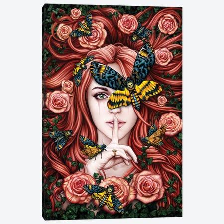 Lady Moth Canvas Print #SRC29} by Sarah Richter Canvas Artwork