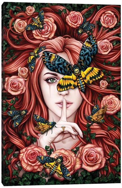 Lady Moth Canvas Art Print