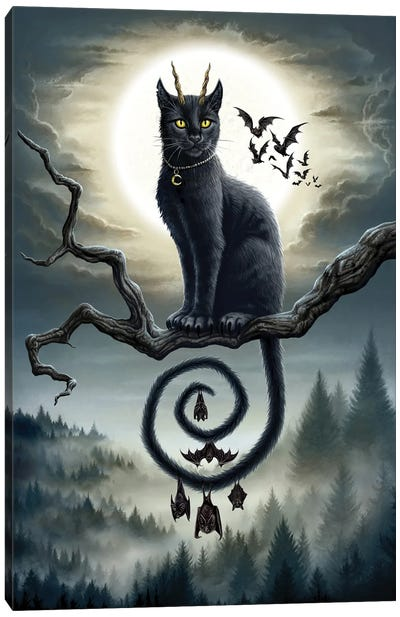 Moonlight Companions Canvas Art Print