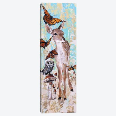Deer Who Canvas Print #SRD12} by Suzanne Rende Canvas Art