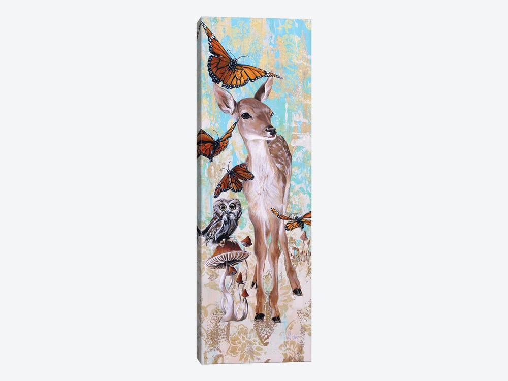 Deer Who by Suzanne Rende 1-piece Canvas Artwork