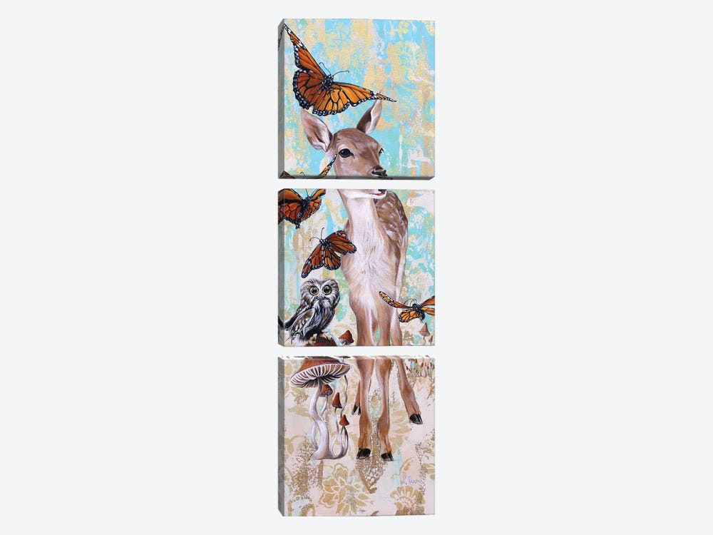 Deer Who by Suzanne Rende 3-piece Canvas Art