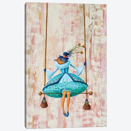 Circus Bird-Trapeze Canvas Print #SRD15} by Suzanne Rende Art Print