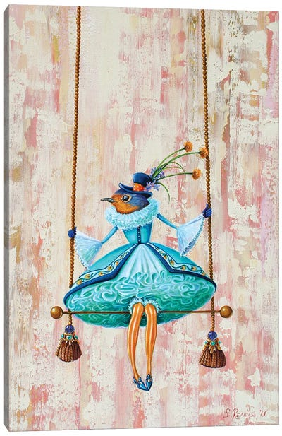 Circus Bird-Trapeze Canvas Art Print