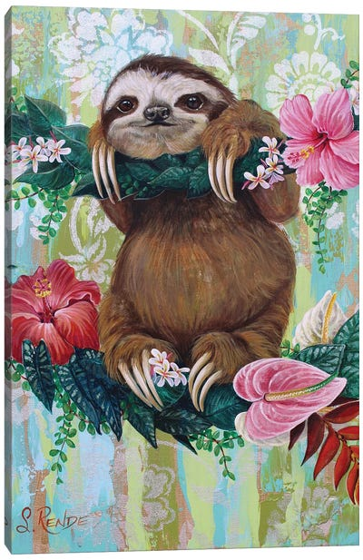 Be Slothy Canvas Art Print