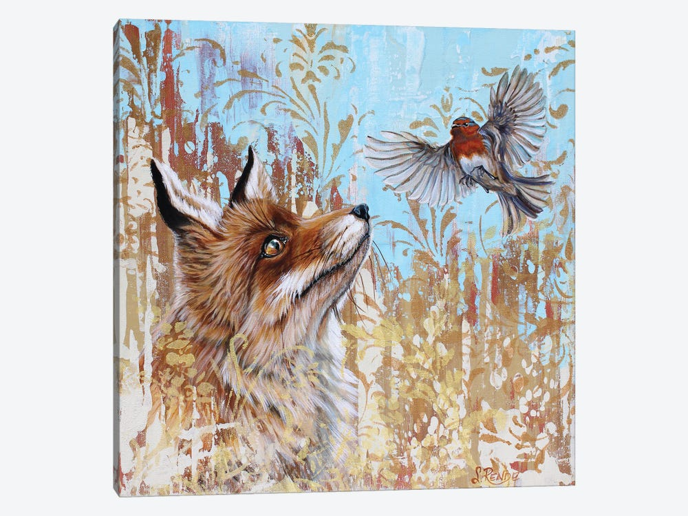 Red And Robin by Suzanne Rende 1-piece Art Print