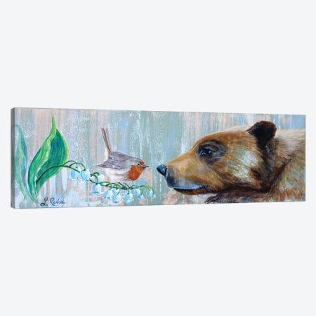 Bear And Bird Canvas Print #SRD21} by Suzanne Rende Canvas Art Print