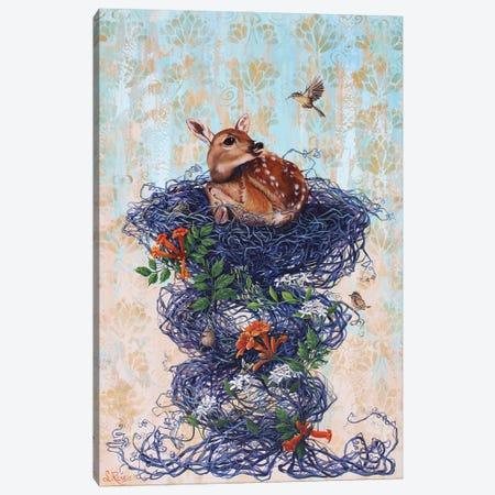 Deer Guest Canvas Print #SRD23} by Suzanne Rende Art Print