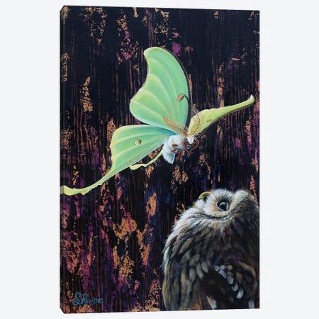 Hoot & Luna Canvas Print #SRD26} by Suzanne Rende Canvas Artwork