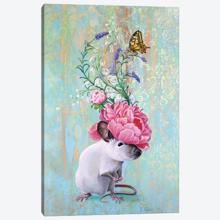 Fancy Rat 2 Canvas Print #SRD28} by Suzanne Rende Canvas Art Print