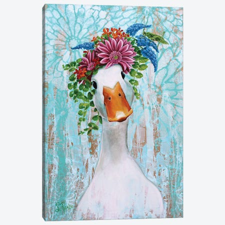 Quack And Katy Canvas Print #SRD2} by Suzanne Rende Canvas Wall Art