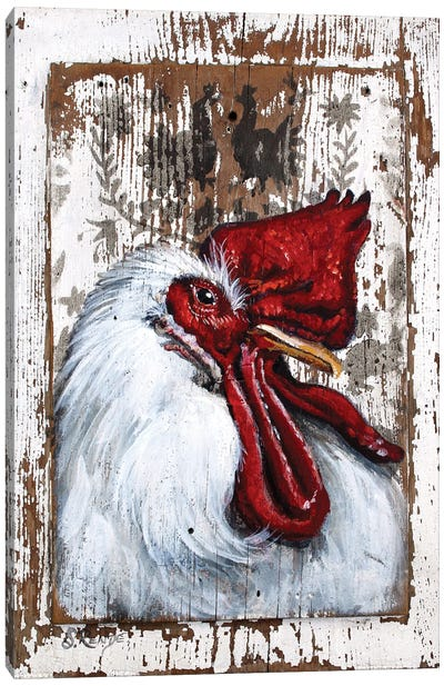 Chillin' Rooster Canvas Art Print