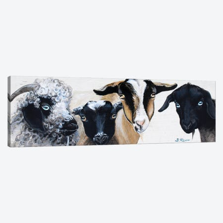 Frankie And The Boys Canvas Print #SRD33} by Suzanne Rende Canvas Art