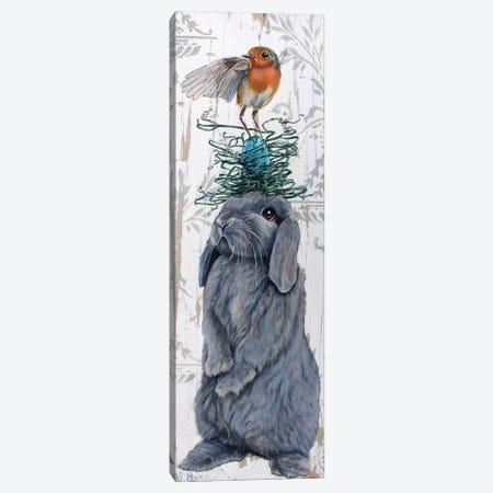 Bird Nest Hare Canvas Print #SRD36} by Suzanne Rende Canvas Print