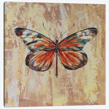 Yellow Flutter Canvas Print #SRD44} by Suzanne Rende Canvas Art