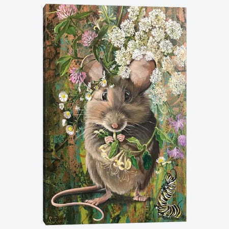Country Mouse Canvas Print #SRD45} by Suzanne Rende Canvas Artwork