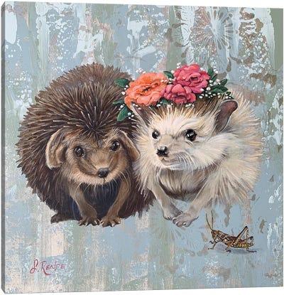 Woodland Wedding Canvas Art Print