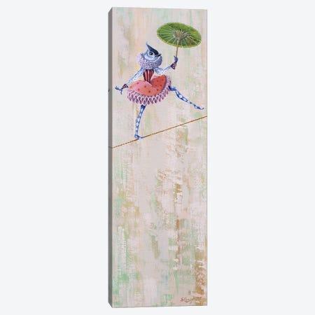 Circus Bird-Tightrope Canvas Print #SRD8} by Suzanne Rende Canvas Artwork