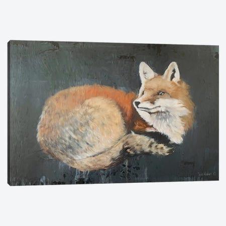 Starry, Starry Night Fox Canvas Print #SRE11} by Suzi Redman Canvas Art Print