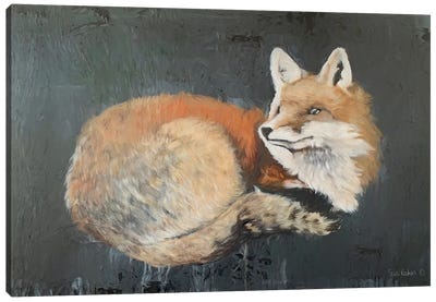 Starry, Starry Night Fox Canvas Art Print