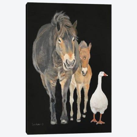 Farmyard Trio Canvas Print #SRE22} by Suzi Redman Canvas Wall Art
