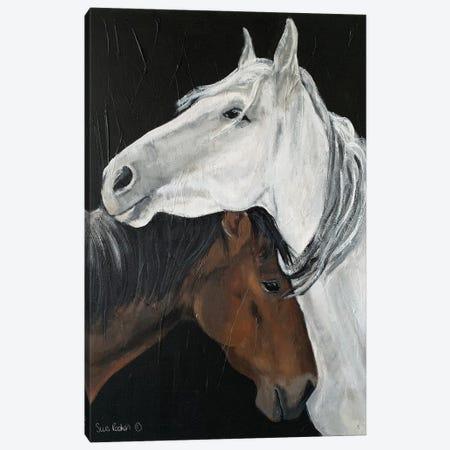 Horse Hug Canvas Print #SRE28} by Suzi Redman Canvas Artwork