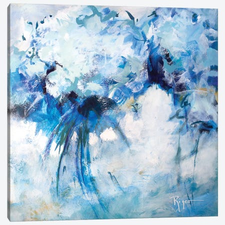 Hydrangeas on My Mind I Canvas Print #SRG5} by Sue Riger Canvas Wall Art