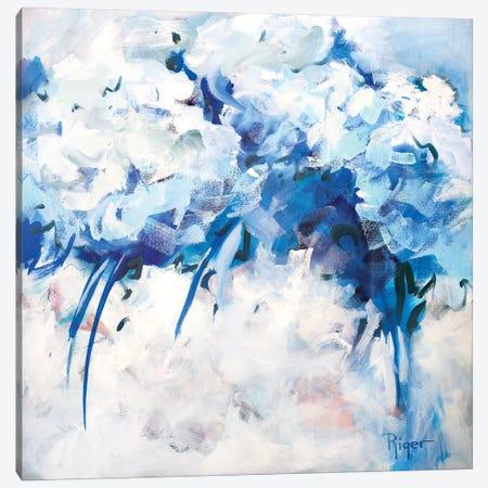 Hydrangeas on My Mind II Canvas Print #SRG6} by Sue Riger Canvas Artwork