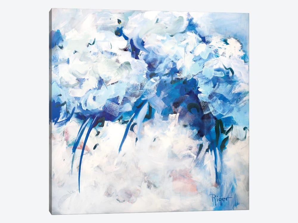 Hydrangeas on My Mind II by Sue Riger 1-piece Canvas Artwork