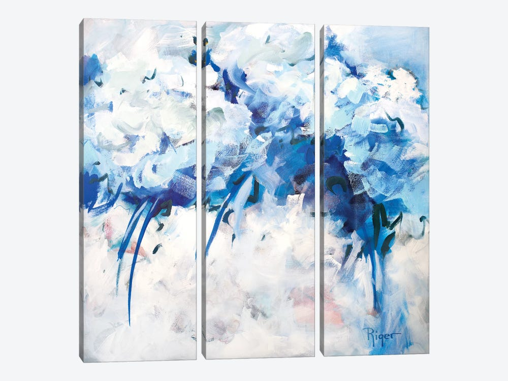 Hydrangeas on My Mind II by Sue Riger 3-piece Canvas Art