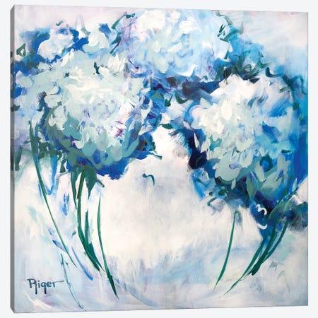 Hydrangeas on My Mind III Canvas Print #SRG7} by Sue Riger Canvas Wall Art