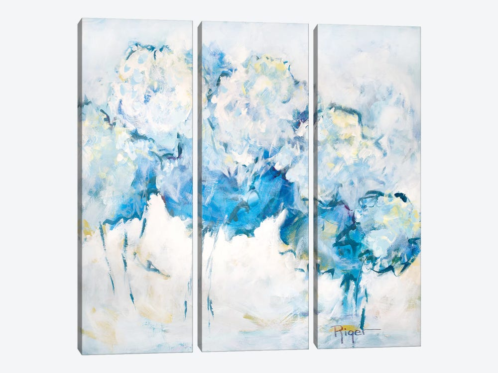 Hydrangeas on My Mind IV by Sue Riger 3-piece Canvas Art