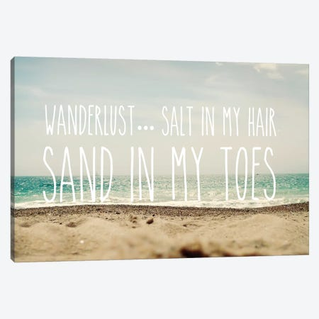Sand In My Toes Canvas Print #SRH34} by Sarah Gardner Canvas Print