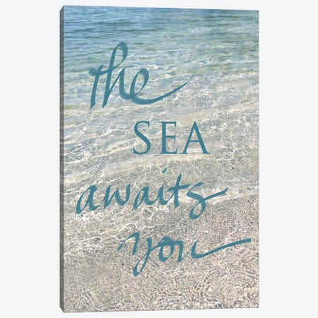 Sea Awaits You I Canvas Print #SRH35} by Sarah Gardner Canvas Print