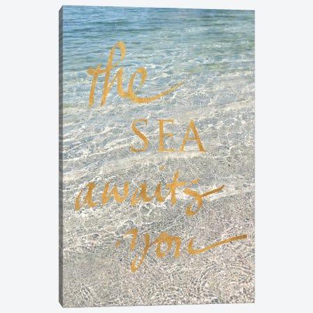 Sea Awaits You II Canvas Print #SRH36} by Sarah Gardner Canvas Art Print